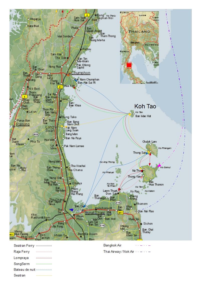 Bangkok - Koh Tao :: Transport Thaïlande
